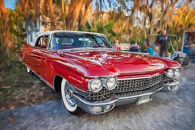 1960 Cadillac Eldorado Biarritz Convertible Painted  Art Print