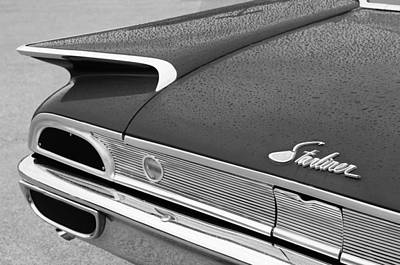 1960 Ford Starliner Photograph - 1960 Ford Galaxie Starliner Taillight Emblem by Jill Reger