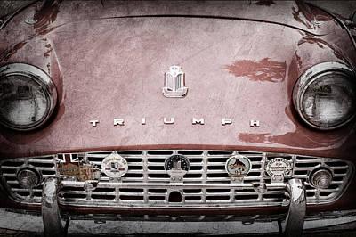 Tre Photograph - 1960 Triumph Tr 3 Grille Emblems by Jill Reger