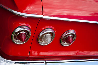 Vintage Cars Photograph - 1961 Chevy Impala by David Patterson