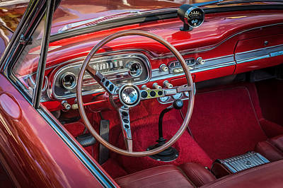 Red Falcon Photograph - 1963 Ford Falcon Sprint Convertible  by Rich Franco