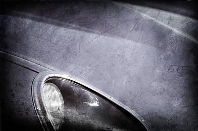 1963 Jaguar Xke Roadster Headlight Print by Jill Reger