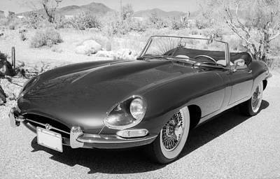 1963 Jaguar Xke Roadster Art Print by Jill Reger