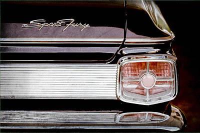1963 Plymouth Sport Fury Taillight Emblem Art Print by Jill Reger