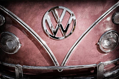 Photograph - 1964 Volkswagen Vw Double Cab Emblem by Jill Reger