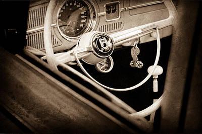 1964 Volkswagen Vw Steering Wheel Art Print by Jill Reger