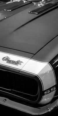 Photograph - 1967 Chevrolet Camaro Ss 350 Convertible Hood Emblem by Jill Reger