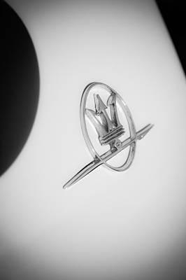 Photograph - 1967 Maserati Ghibli Emblem by Jill Reger