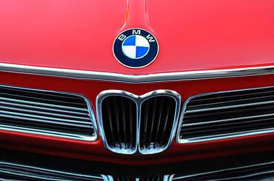 Photograph - 1970 Bmw 2002 Hood Emblem by Jill Reger