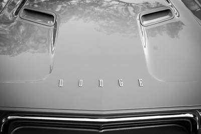 1972 Dodge 340 Challenger Painted Bw  Art Print