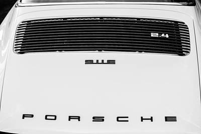 1973 Porsche 911 E Targa Rear Emblems Print by Jill Reger