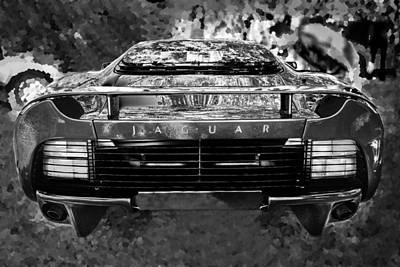 Jaguar Xj220 Photograph - 1993 Jaguar Xj 220 Super Car Bw by Rich Franco