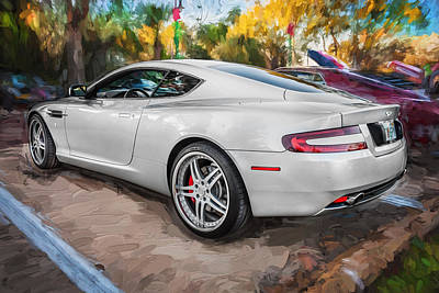 Smart Car Wall Art   Photograph   2007 Aston Martin Db9 Coupe Painted By  Rich Franco