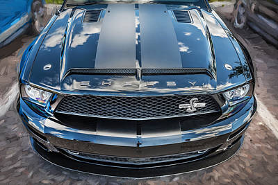 The 500 Photograph - 2008 Ford Shelby Mustang Gt500 Kr Painted  by Rich Franco