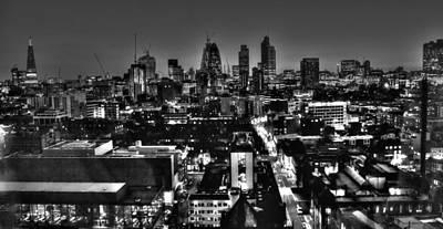Nighttime Street Photography - 2013 City of London Skyline by David French