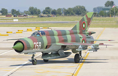 A Bulgarian Air Force Mig-21 Art Print by Giovanni Colla