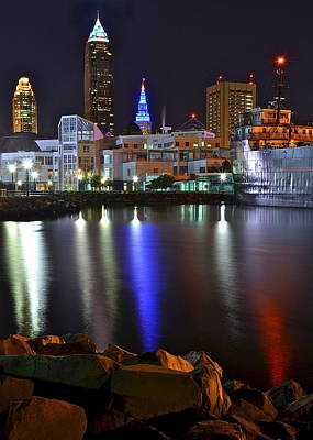 Photograph - A Cleveland Night by Frozen in Time Fine Art Photography