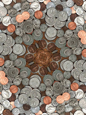 A Large Pile Of Coins Art Print