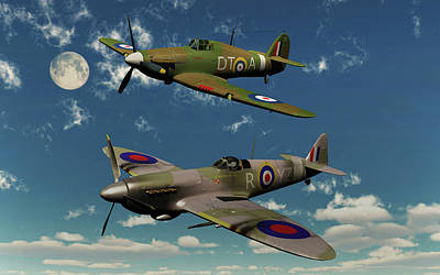 Spitfire Photograph - A Royal Air Force Supermarine Spitfire by Mark Stevenson