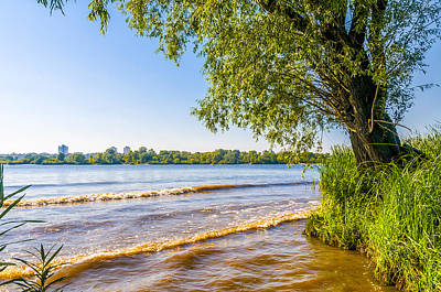 Dnieper Wall Art - Photograph - A View Of The Dnieper River In Kiev by Alain De Maximy
