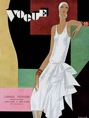 Bracelets Photograph - A Vintage Vogue Magazine Cover Of A Woman by William Bolin