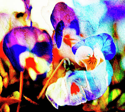 Photograph - Abstract Watercolour Flowers by Kathy Collins