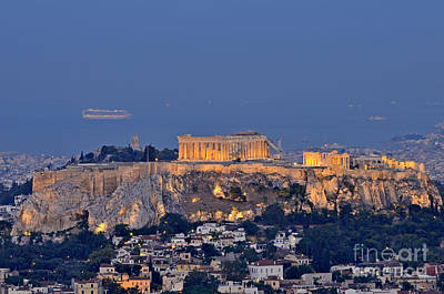 Akropolis Photograph - Acropolis Of Athens During Sunrise by George Atsametakis