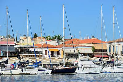 Houses Photograph - Aegina Port by George Atsametakis