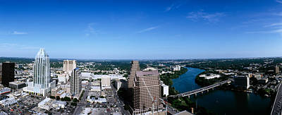 Austin Building Photograph - Aerial View Of A City, Austin, Travis by Panoramic Images