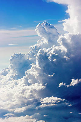 Aerial View Of Clouds In The Sky Art Print