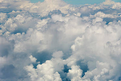 Aerial View Of Clouds, Indonesia (large Art Print by Keren Su