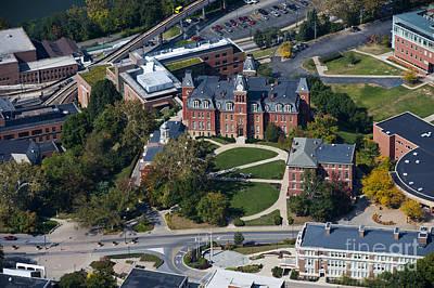 Photograph - aerials of WVVU campus by Dan Friend