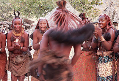 Clapping Photograph - Africa, Namibia, Opuwo by Jaynes Gallery