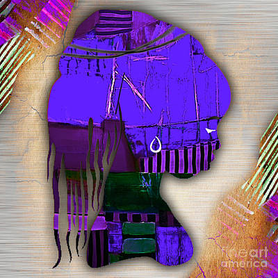 Poster Mixed Media - African Statue Collection by Marvin Blaine