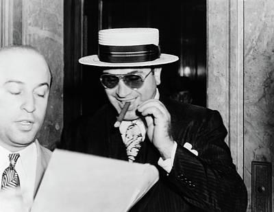 Stadium Crowd Painting - Al Capone (1899-1947) by Granger