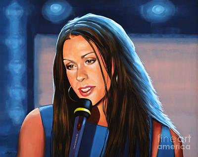 Canadian Painting - Alanis Morissette  by Paul Meijering