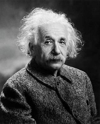 Einstein Photograph - Albert Einstein by Library Of Congress