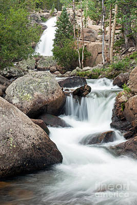 Photograph - Alberta Falls On Glacier Creek In Rocky Mountain National Park by Fred Stearns