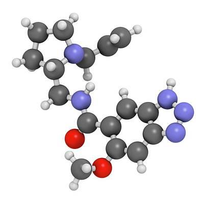 Vomit Photograph - Alizapride Antiemetic Drug Molecule by Molekuul