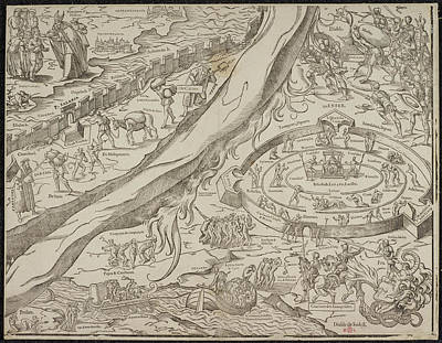 Cartography Photograph - Allegorical Map by British Library