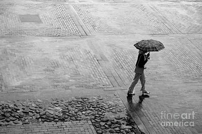Depressed Photograph - Alone In The Rain by Michal Bednarek