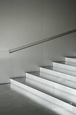 Photograph - Aluminium Silver Metal Architecture Detail by Jacek Malipan