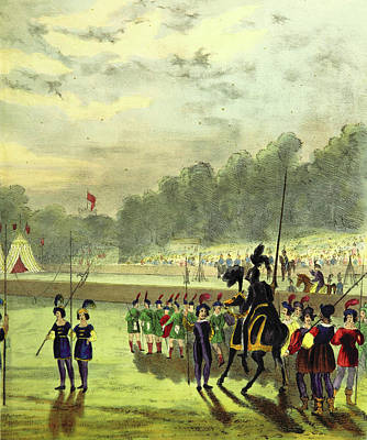 Revising Drawing - An Account Of The Tournament At Eglinton by Litz Collection