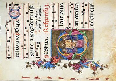 Music Score Photograph - Anonymous Sienese Painter, Diurnal by Everett