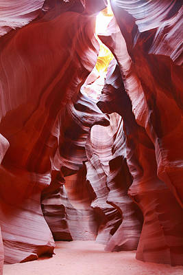 Photograph - Antelope Canyon In Winter Light 3 by Alan Vance Ley
