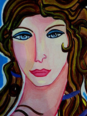Femal Portrait Painting - Aphrodite by Nikki Dalton