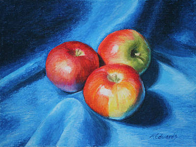 Painting - 3 Apples by Marna Edwards Flavell