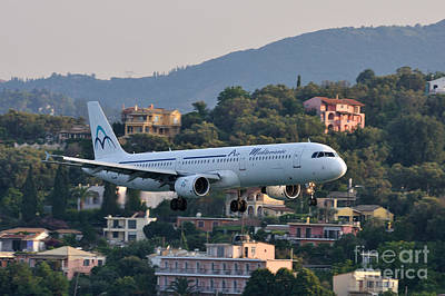 Airlines Photograph - Approaching Corfu Airport by George Atsametakis