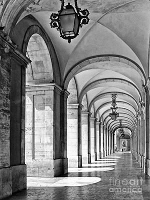Arcades Of Lisbon Art Print by Jose Elias - Sofia Pereira
