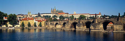 Czech Republic Photograph - Arch Bridge Across A River, Charles by Panoramic Images